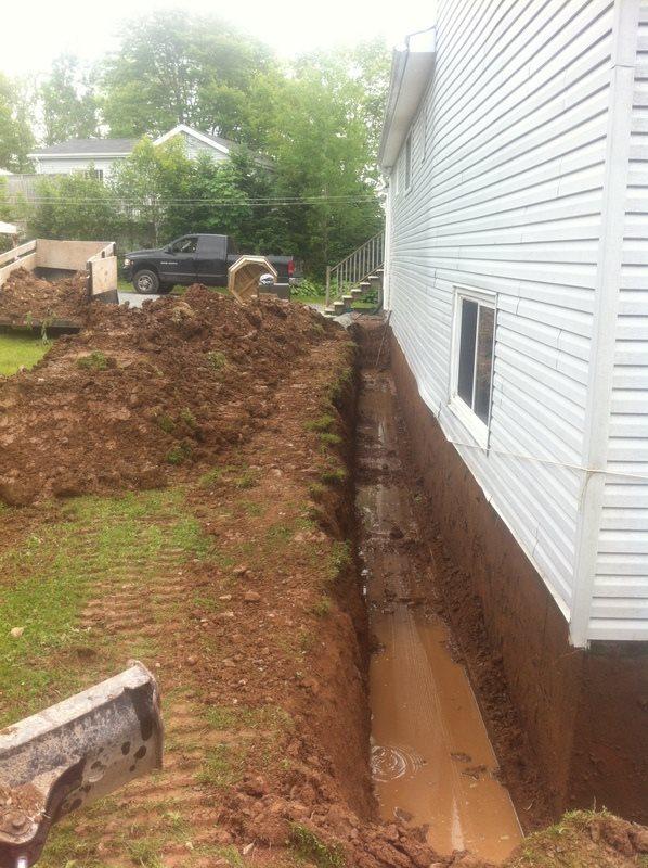 Foundation leak